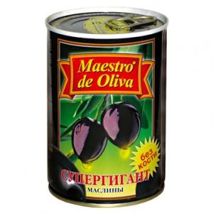 купить Маслины без косточки супер-гигант - Maestro de Oliva, 425г