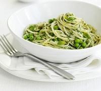 Спагетти с горошком