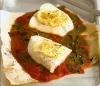 Рыба с лимоном  и томатным соусом