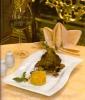 Голень ягненка с овощами рататуй и кус-кусом