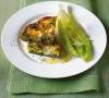 Омлет с зеленым горошком и сыром фета